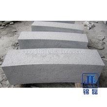 G654 Dark Grey Granite Stone Kerbstone with Flamed Surface