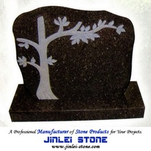 Carved Natural Granite Stone Angel Headstone for Monuments Tombstone