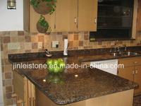 Tan Brown Granite Backsplash or Counterop for Kitchen